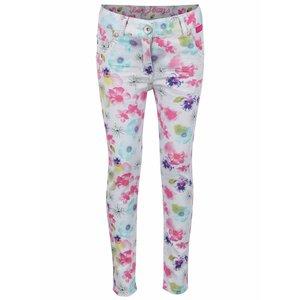 Pantaloni gri deschis cu model floral Boboli pentru fete