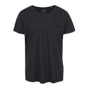 Tricou negru !Solid Sean din bumbac