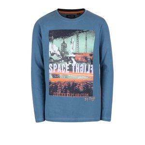 Blue Seven, Bluză albastră cu print Blue Seven de băieți