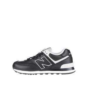 Pantofi sport negru cu crem New Balance 574 de bărbați