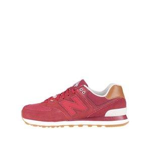 Pantofi sport roșii New Balance 574 de bărbați