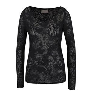 Bluză neagră din plasă cu model opac Vero Moda Gro