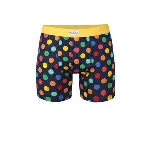Happy Socks, Boxeri negri cu buline colorate Big Dot Happy Socks