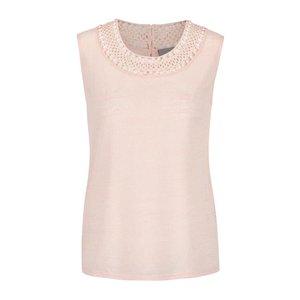 Vero Moda, Top roz piersică din jerseu cu decupaje Vero Moda Silvana