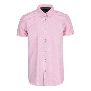Cămașă cu mânecă scurtă Burton Menswear London roz la pretul de 87.49