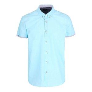 Cămașă cu mânecă scurtă Burton Menswear London albastră la pretul de 74.99