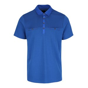 Burton Menswear London, Tricou polo albastru din bumbac Burton Menswear London
