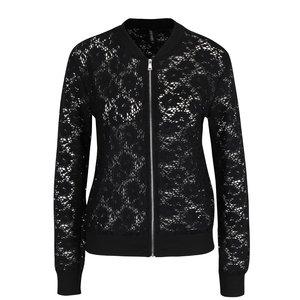 Jachetă bomber neagră Haily's Lisa din dantelă