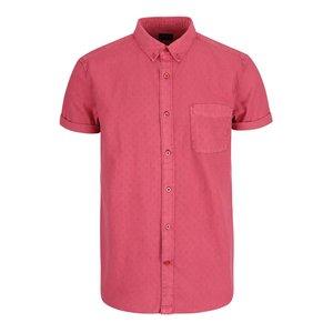 Cămașă cu mânecă scurtă Burton Menswear London roșie