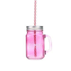 Cană roz cu pai CGB