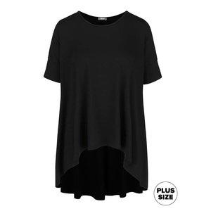 Tricou negru oversized ZOOT cu tiv asimetric la pretul de 99.99