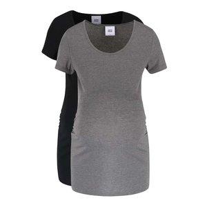 Mama.licious, Set 2 tricouri gri-negru Mama.licious Lea