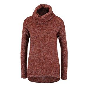 Vero Moda, Pulover roșu melanj Vero Moda Jive cu tiv asimetric