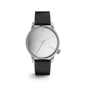 Ceas argintiu cu negru Komono Winston Mirror pentru bărbați