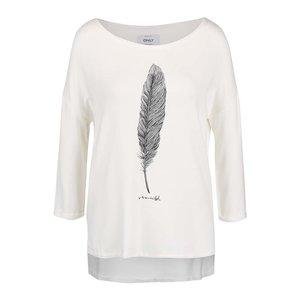 Bluză cu mâneci trei sferturi ONLY Clara albă