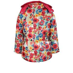 Geacă crem cu model floral Bóboli pentru fete