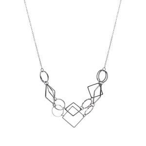 Colier metalic Pieces Line cu pandantive geometrice