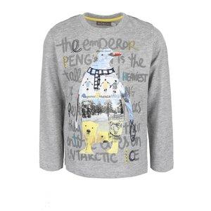Bluză gri melanj cu imprimeu Boboli pentru băieți