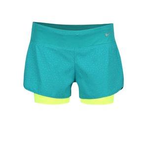 Pantaloni scurți verzi Nike 3In Rival cu talie lejeră