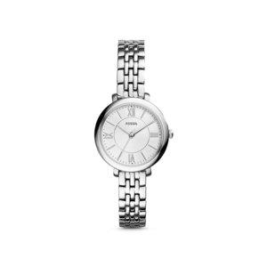 Ceas argintiu pentru femei Fossil cu brățară îngustă
