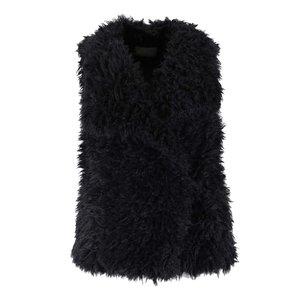 Vestă neagră Vero Moda Jayla din material teddy