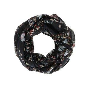 Eșarfă neagră Vero Moda Ellen cu imprimeu