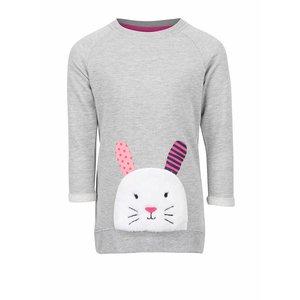 Bluză gri 5.10.15. cu imprimeu iepure pentru fete
