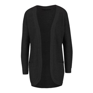 ONLY, Cardigan lung negru ONLY Emma tricotat