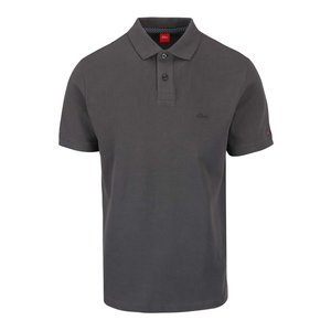 s.Oliver, Tricou polo gri închis s.Oliver din bumbac