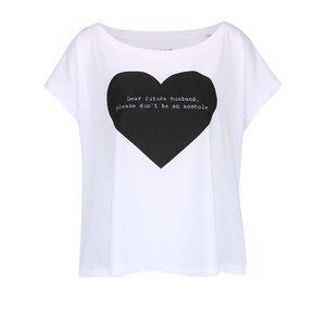 Tricou alb ZOOT Original Dear Future din bumbac cu print la pretul de 64.99