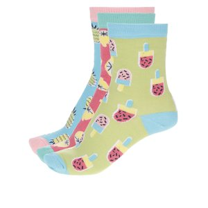 Set de 3 șosete Oddsocks Kitschy colorate