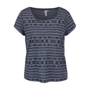 QS by s.Oliver, Tricou albastru QS by s.Oliver cu model pentru femei