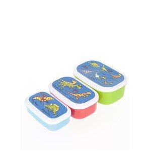 Set 3 cutii pentru gustări Tyrrell Katz Dinosaurs pentru băieți