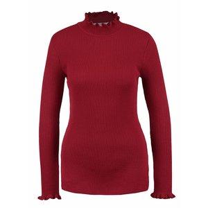 Bluză roșie Miss Selfridge cu guler mic la pretul de 154.99