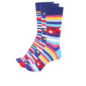 Set de 3 perechi șosete multicolore Oddsocks George