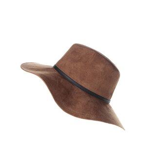 Pălărie maro Vero Moda Agnes cu aspect de piele întoarsă
