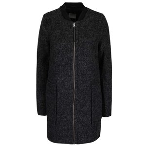 Palton gri închis Vero Moda Antonia cu buzunare