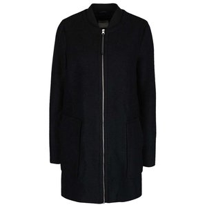 Palton negru Vero Moda Antonia cu buzunare