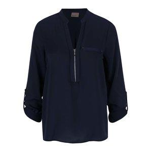 Bluză bleumarin Vero Moda Kim cu fermoar decorativ
