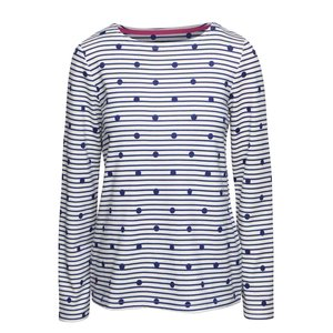 Tom Joule, Bluză crem Tom Joule Harbour din bumbac cu model discret