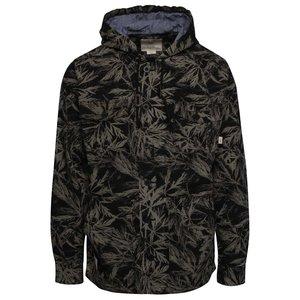 Vans, Jachetă negru cu verde Vans Lismore cu imprimeu tropical
