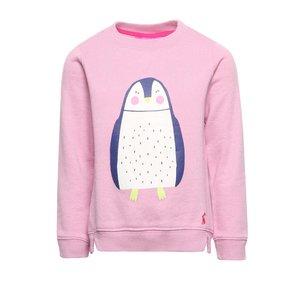 Tom Joule, Bluză roz Tom Joule Mart cu print pentru fete