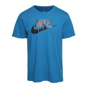 Nike, Tricou albastru cu logo Nike Futura Icon din bumbac