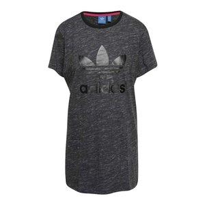 Tricou gri închis adidas Originals Trefoil cu logo
