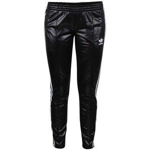 Pantaloni sport negri adidas Originals lucioși