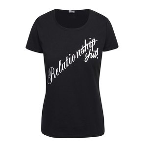 Tricou negru ZOOT Original Relationship din bumbac cu print cu text