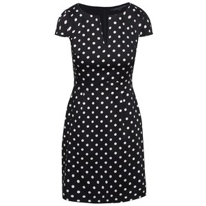 French Connection, Rochie neagră French Connection Dotty cu buline