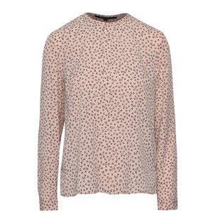 Bluză roz French Connection Falaise cu imprimeu la pretul de 379.99