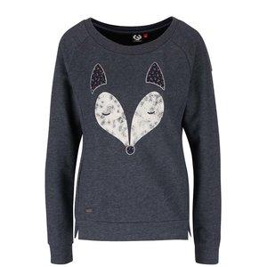 Bluză bleumarin Ragwear Kind cu print vulpe