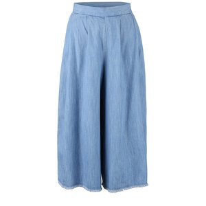 French Connection, Pantaloni culottes French Connection Cora albastru deschis